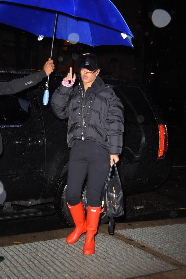 Rihanna à New-York le 26 novembre 2014