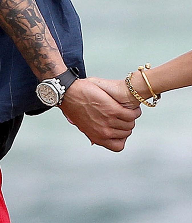 Rihanna et Chris Brown en vacances à Hawaï, le 20 février 2013.