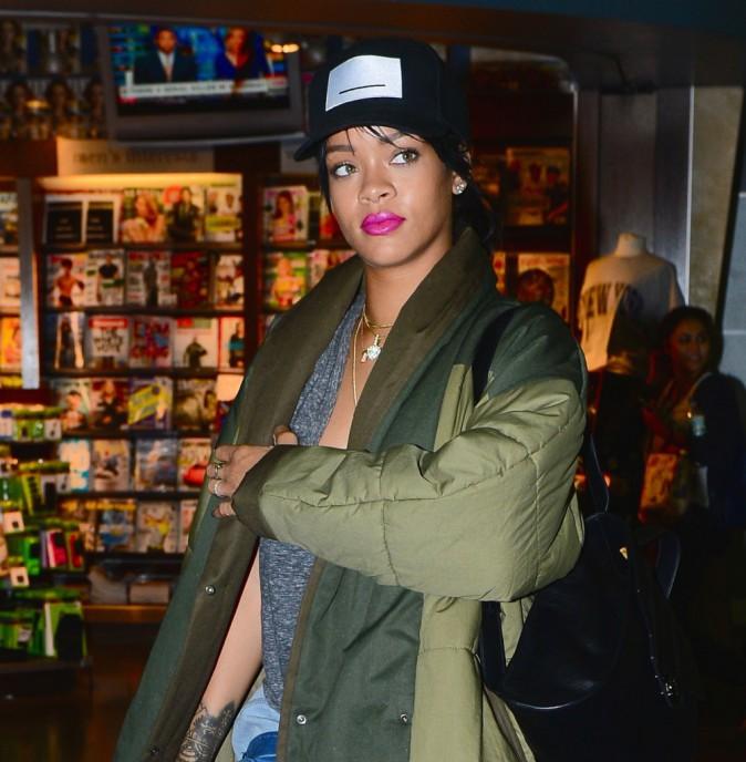 Rihanna à New York le 30 septembre 2014