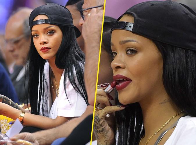 Rihanna : une accro de NBA qui prend soin d'être toujours en beauté sur le parquet !