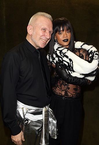 Jean-Paul Gaultier et Rihanna à Paris le 1er mars 2014