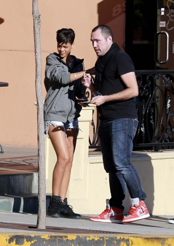 Rihanna à West Hollywood, le 3 janvier 2012.