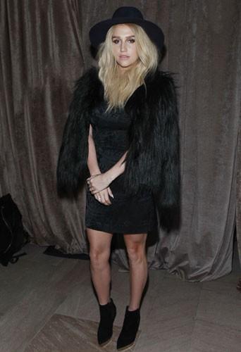 Kesha au défilé Zac Posen à New York, le 16 février 2015