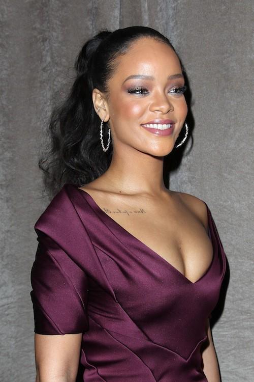 Rihanna au défilé Zac Posen à New York, le 16 février 2015