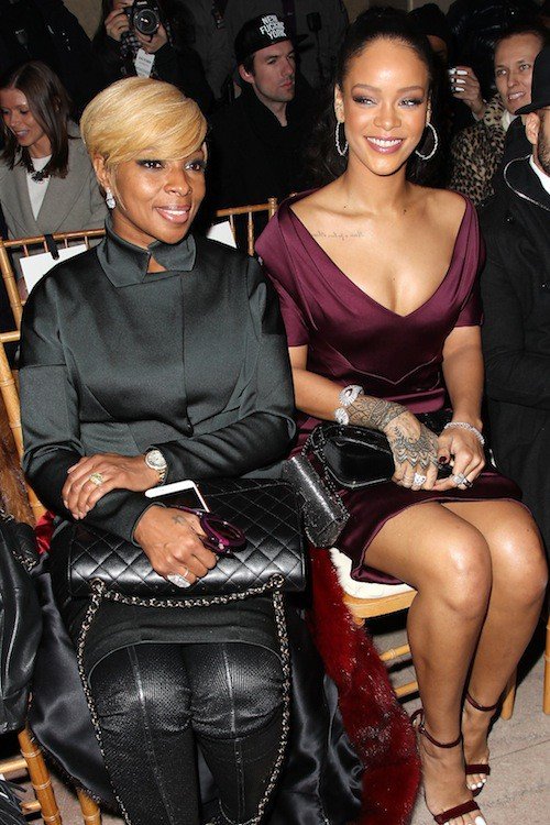 Rihanna et Mary J. Blige au défilé Zac Posen à New York, le 16 février 2015