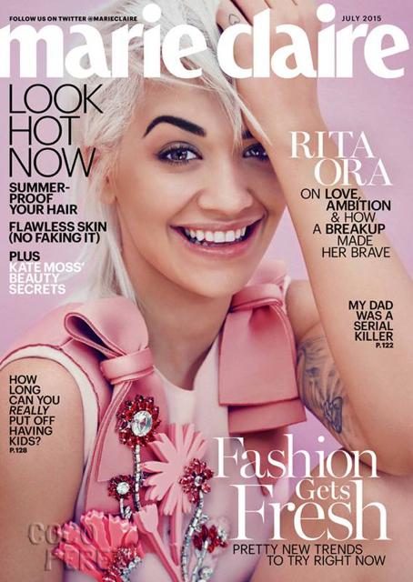 Rita Ora en couverture de Marie Claire juillet 2015