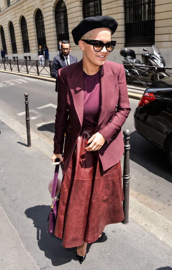 Rita Ora à Paris, le 9 juillet 2015