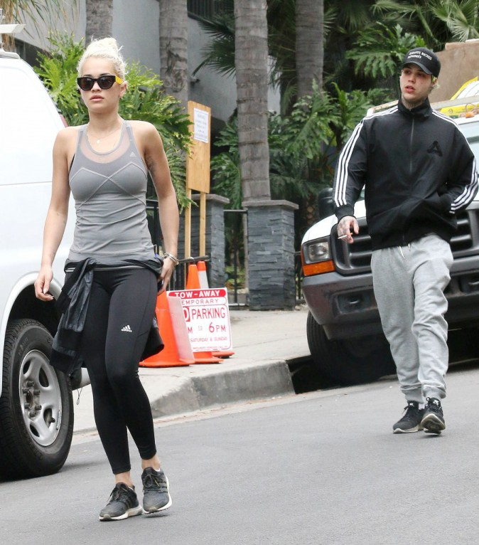 Photos : Rita Ora : égérie Adidas au top avec son boyfriend à Los Angeles !