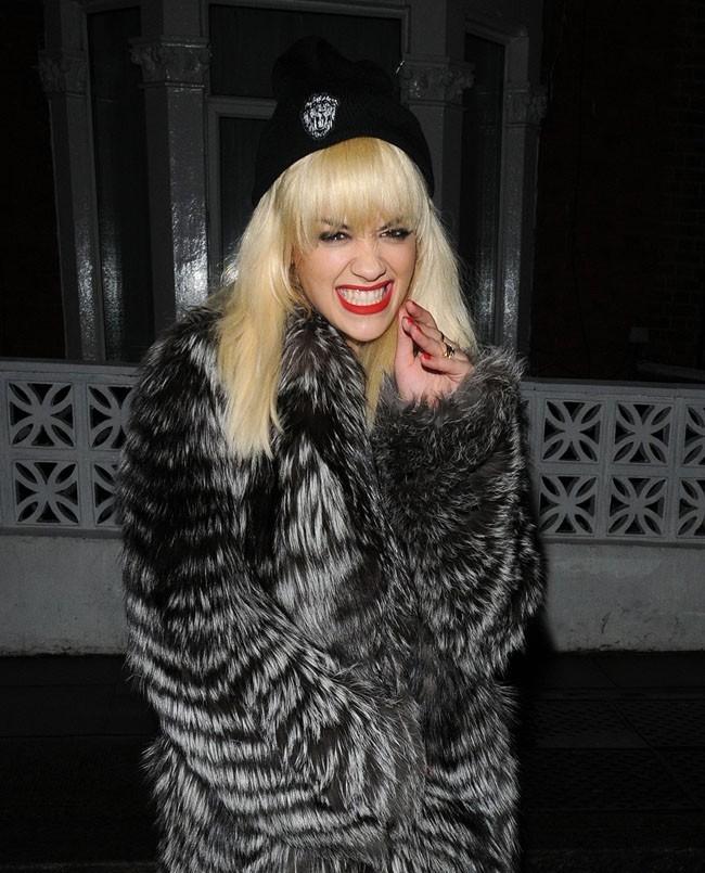 Rita Ora à Londres pour son anniversaire le 26 novembre 2012