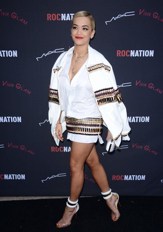 Rita Ora à Los Angeles le 25 janvier 2014