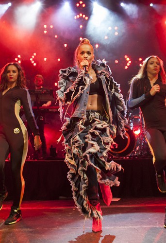 Rita Ora à Madrid le 3 juillet 2014