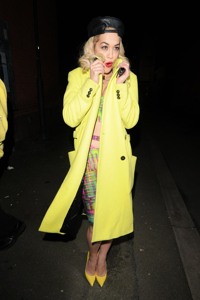 Rita Ora à Londres le 6 février 2013