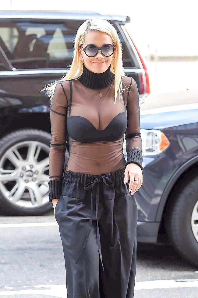 Rita Ora à New-York le 11 août 2015