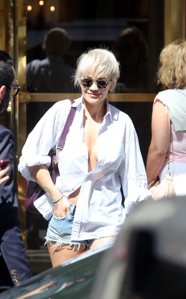 Rita Ora à Paris, le 6 juillet 2015