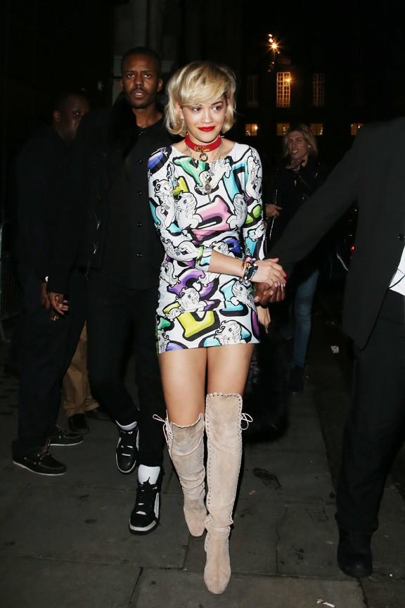 Rita Ora à Londres le 4 janvier 2014