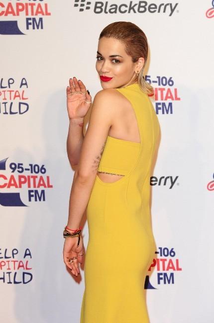 Rita Ora lors du Jingle Bell Ball à Londres, le 9 décembre 2012.