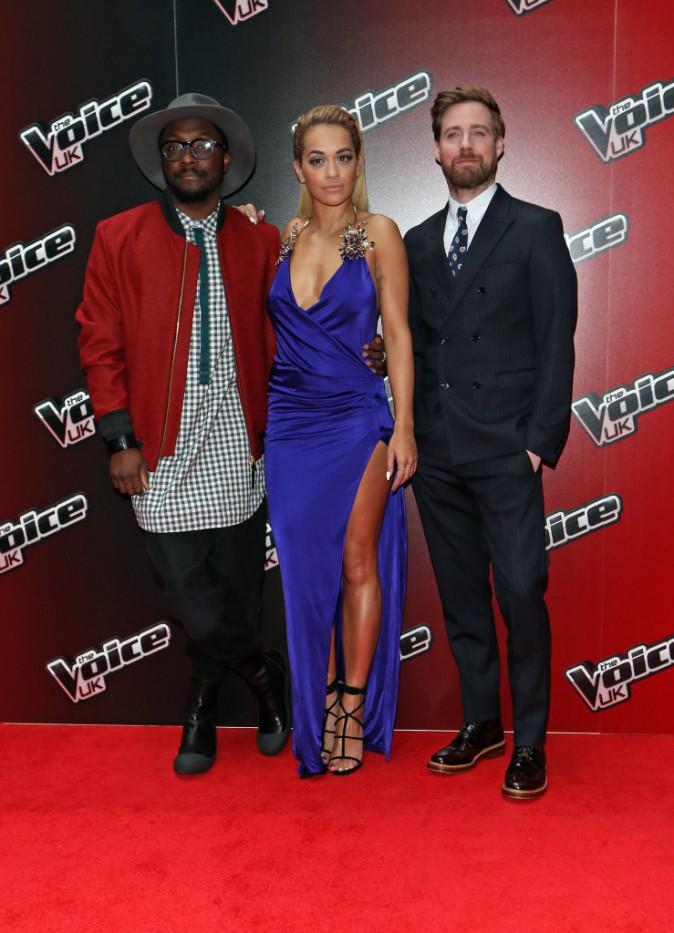 Rita Ora, Will.I.Am et Ricky Wilson le 5 janvier 2015