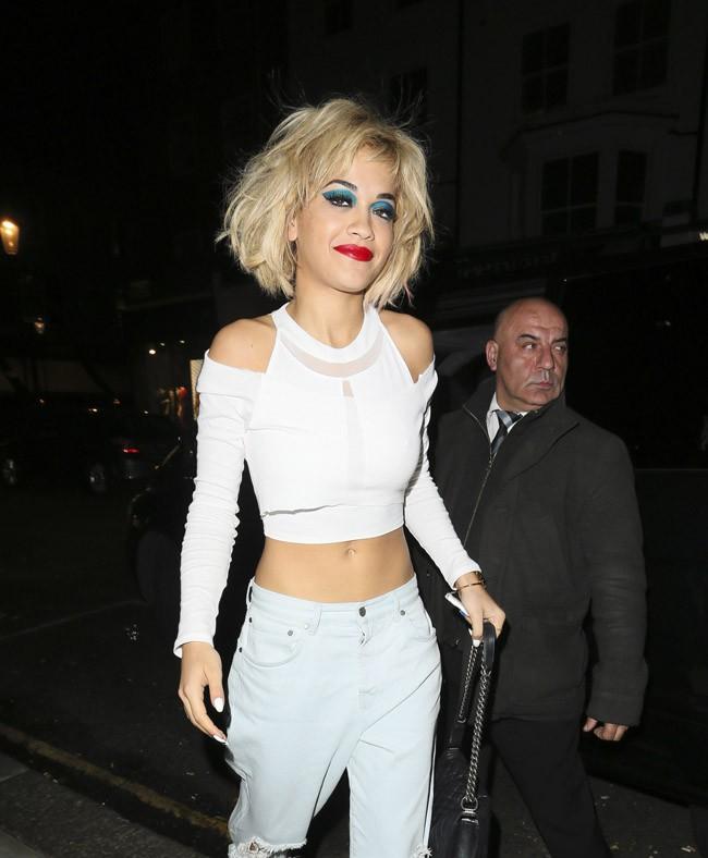 Rita Ora à Londres le 9 octobre 2013