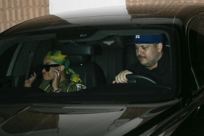 Photos : Rob Kardashian et Blac Chyna : ça se bécote !