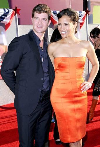 Robin Thicke et Paula Patton le 24 juillet 2008 !