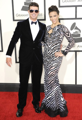 Robin Thicke et Paula Patton le 26 janvier 2014 !