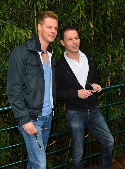 Matthieu Delormeau et Marc-Olivier Fogiel à Roland-Garros le 9 juin 2013