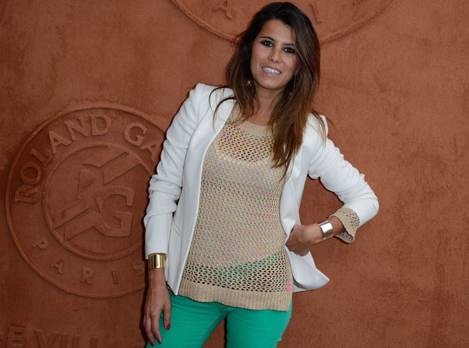 Roland Garros 2014 : Karine Ferri se met au vert pour jouer les fans de petites balles jaunes !
