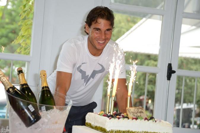 Rafael Nadal fête ses 28 ans à Roland Garros le 3 juin 2014