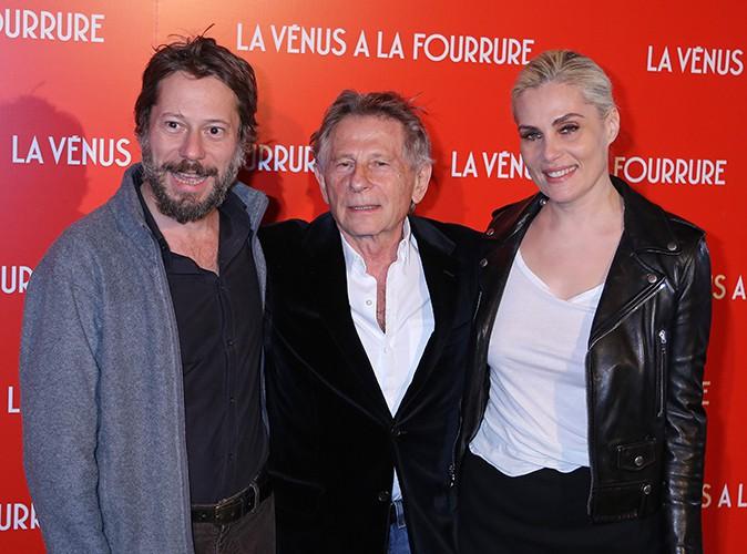 Mathieu Amalric, Roman Polanski et Emmanuelle Seigner à Paris le 4 novembre 2013