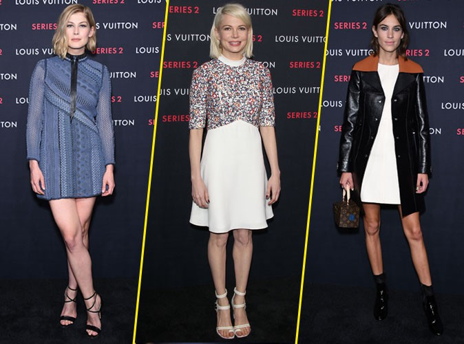Photos : Rosamund Pike, Michelle Williams et Alexa Chung : charme et élégance pour Louis Vuitton !