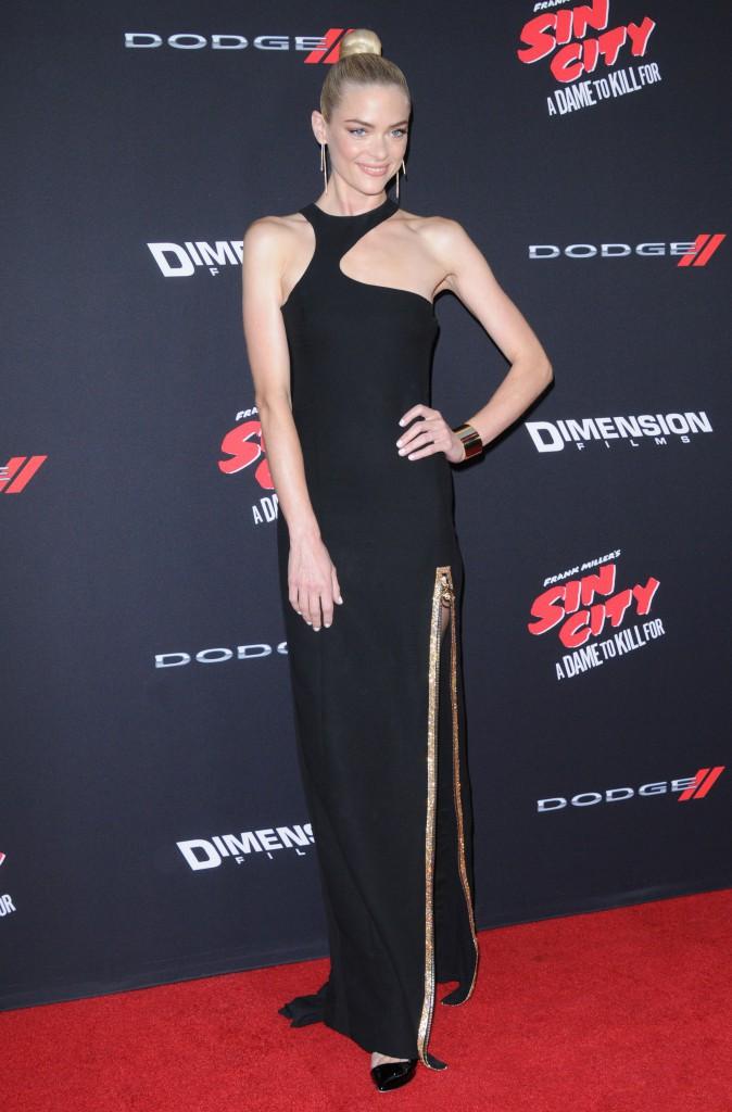 Jaime King sur le tapis rouge de l'avant-première de Sin City 2, à Los Angeles, le 19 août 2014 !