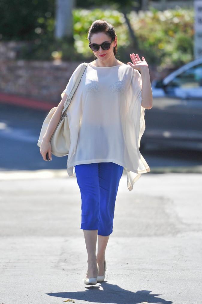 Rose McGowan le jour de son anniversaire à Beverly Hills, le 5 septembre 2013