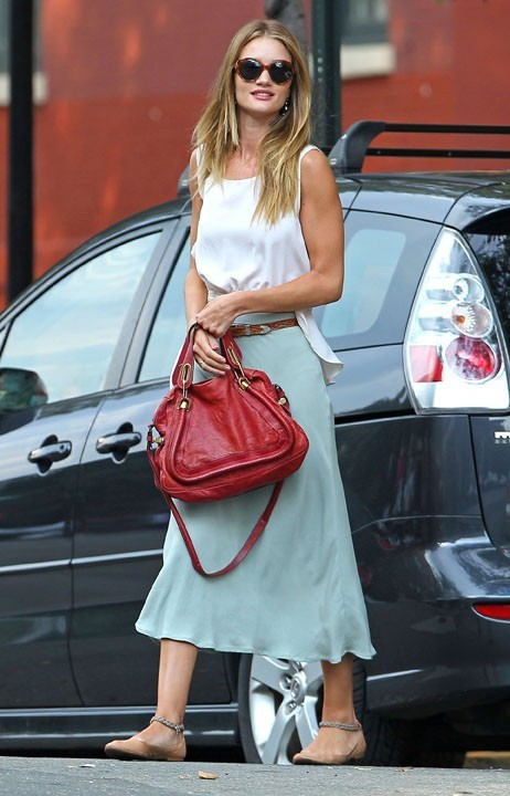 Rosie Huntington-Whiteley à New York, le 1er août 2011.