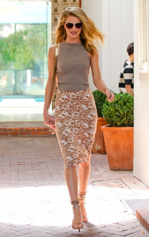 Rosie Huntington-Whiteley à West Hollywood, le 11 avril 2013.