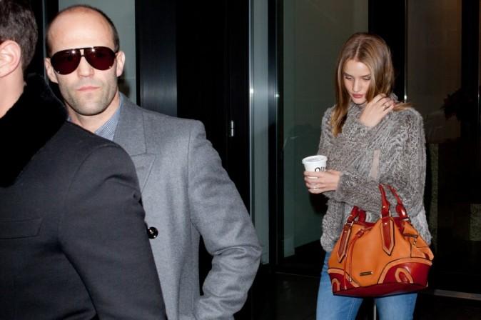 Rosie Huntington-Whiteley et Jason Statham à New York, le 22 février 2012.