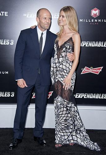Jason Statham et Rosie Huntington-Whiteley à Los Angeles le 11 août 2014