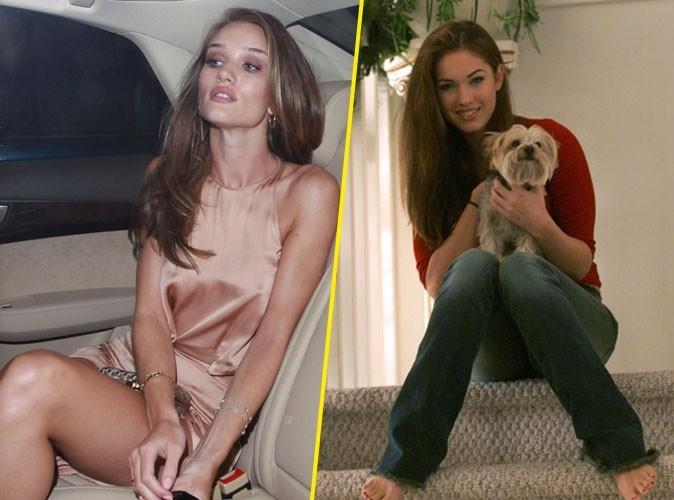 Rosie Huntington-Whiteley - Megan Fox: voilà deux styles differents de s'assoir!