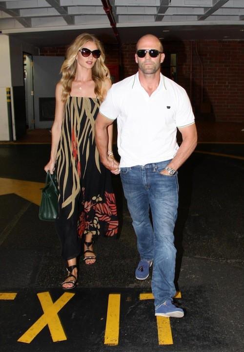 Photos : Rosie Huntington-Whiteley : sortie en amoureux avec Jason Statham après deux mois de discrétion !