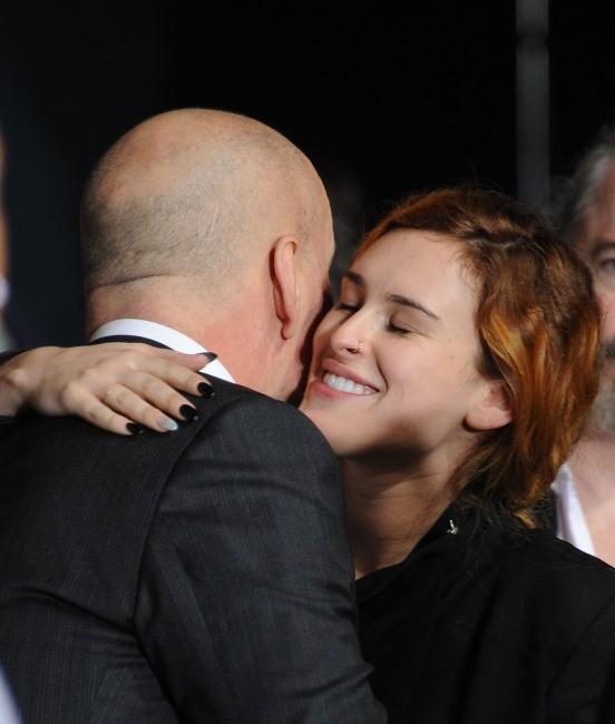 Rumer Willis et Bruce Willis le 31 janvier 2013 à Los Angeles