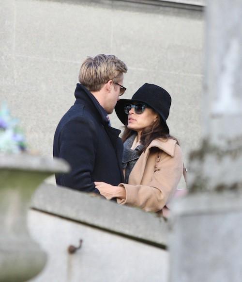 A Paris, visite en amoureux du cimetière du Père Lachaise, en novembre 2011
