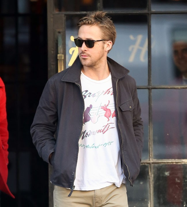 Ryan Gosling à New-York le 10 mars 2013