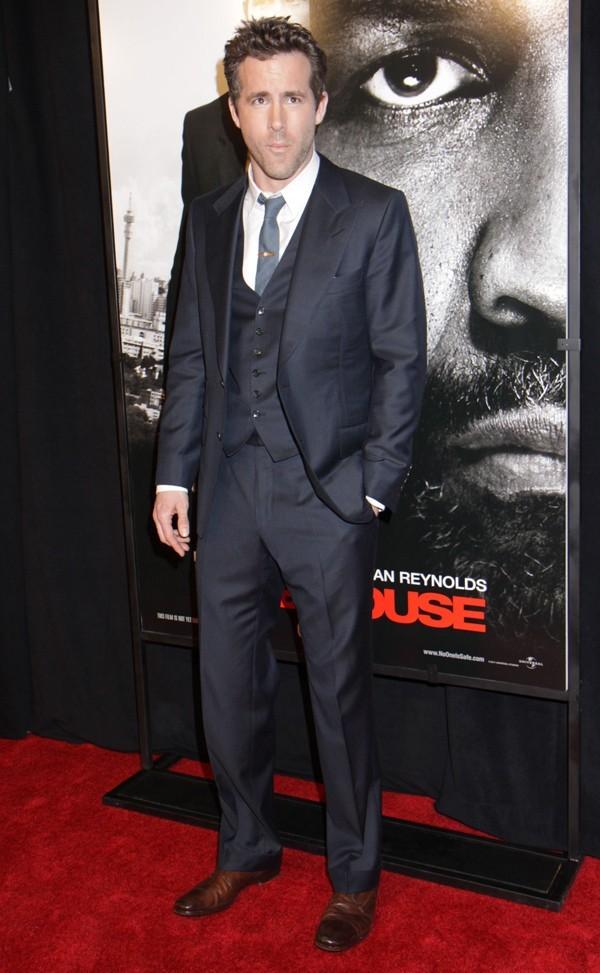 Ryan Reynolds à l'avant-première new-yorkaise de Safe House hier !