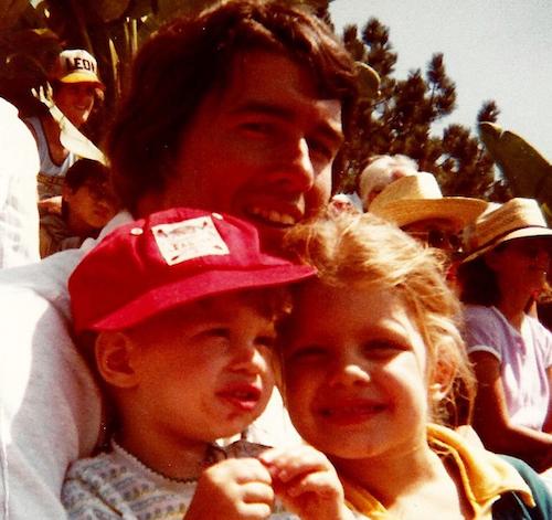 Fergie enfant avec son père