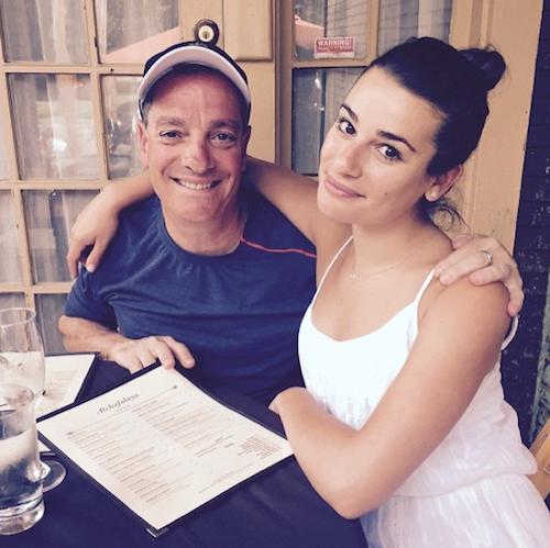 Lea Michele et son père