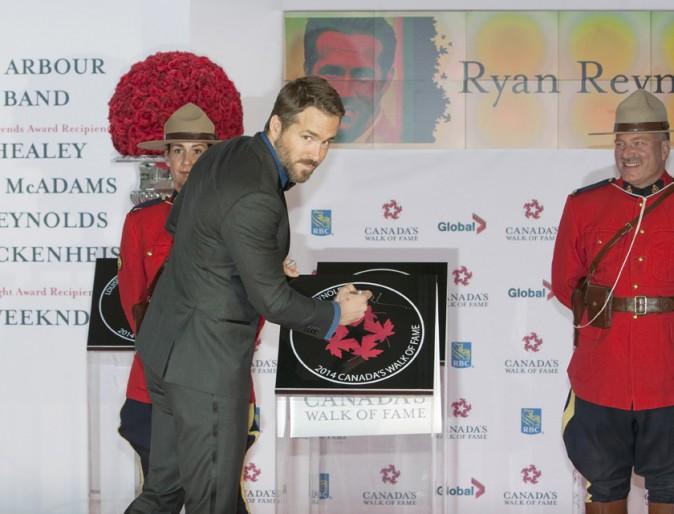 Ryan Reynolds à Toronto le 18 octobre 2014