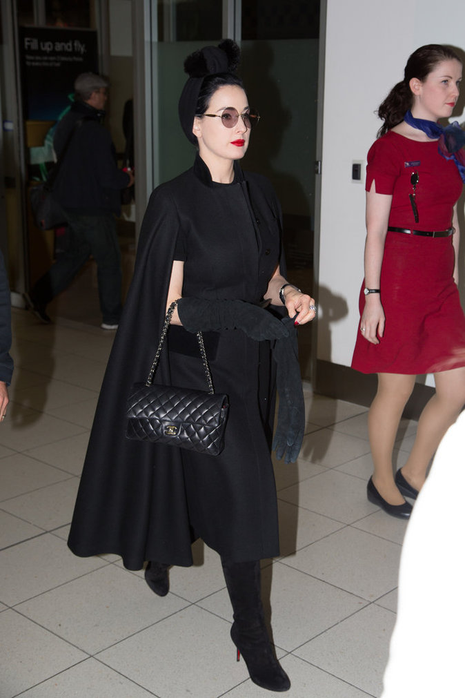 Le sac de luxe comme Dita von Teese