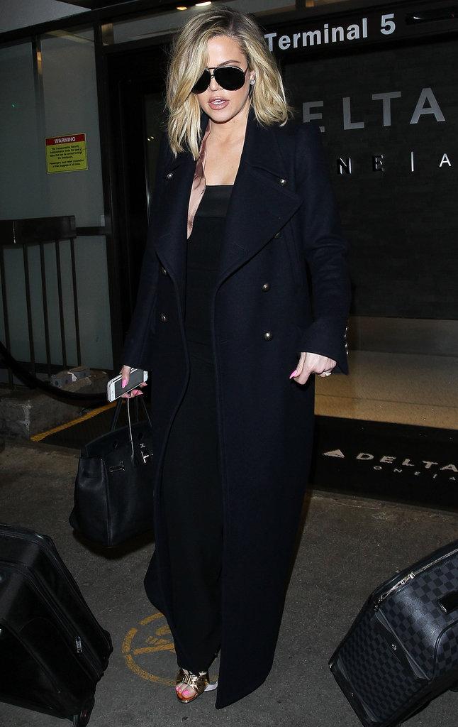 Le total look black comme Khloe Kardashian