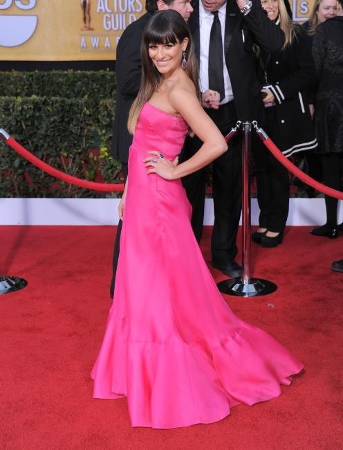 Lea Michele lors des SAG Awards à Los Angeles, le 27 janvier 2013.