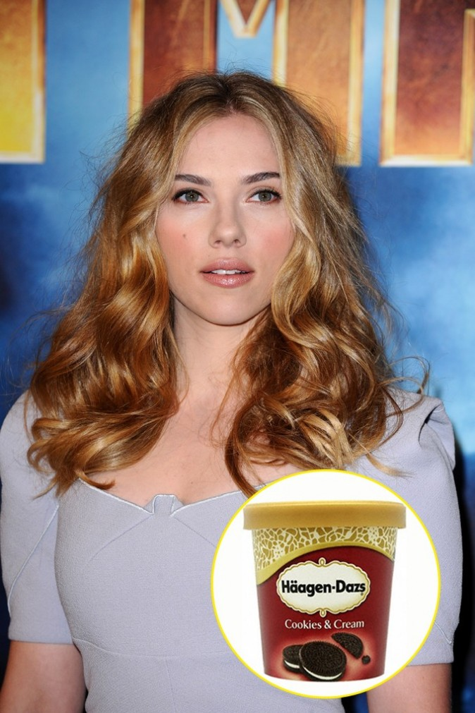 Scarlett Johansson : un pot d'Häagen-Dazs