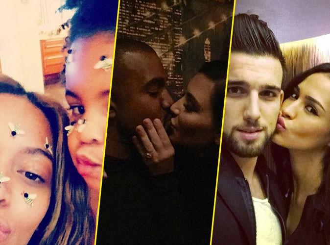 Photos : Saint-Valentin : Beyoncé et Blue Ivy, Kim et Kanye, Aymeric et Leila… L'amour toujours !